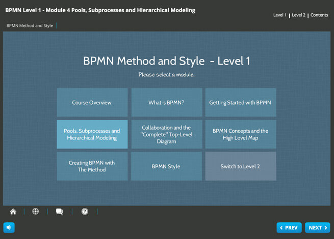BPMN 2.0 (level 1 & 2) Screenshot 1