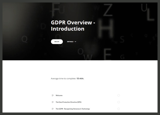 GDPR Awareness Screenshot 1