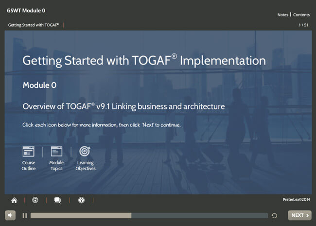 TOGAF® 9 Certified & Implementation Suite Screenshot 1