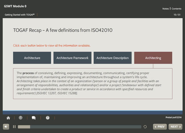 Implementation: TOGAF® 9 Screenshot 3