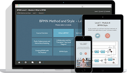 BPMN 2.0 Foundation & Practitioner (level 1 & 2) eLearning