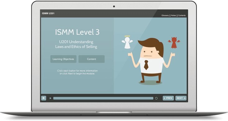 ISMM Level 3 U201 - Understanding Ethics & Laws of Selling