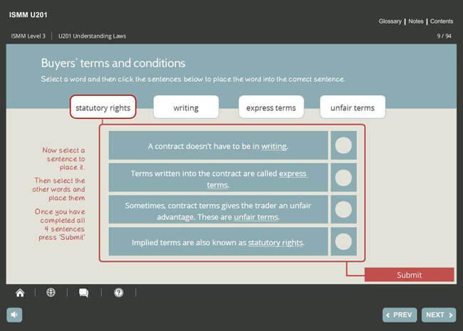 ISMM Level 3 U201 - Understanding Ethics & Laws of Selling Screenshot 1