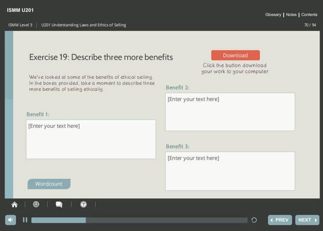 ISMM Level 3 U201 - Understanding Ethics & Laws of Selling Screenshot 4
