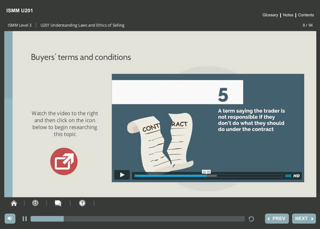 ISMM Level 3 U201 - Understanding Ethics & Laws of Selling Screenshot 5
