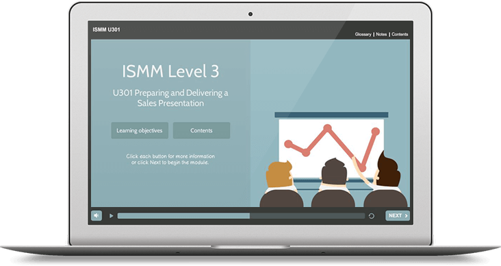 ISMM Level 3 U301 - Preparing & Delivering a Sales Presentation