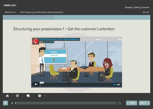 ISMM Level 3 U301 - Preparing & Delivering a Sales Presentation Screenshot 2