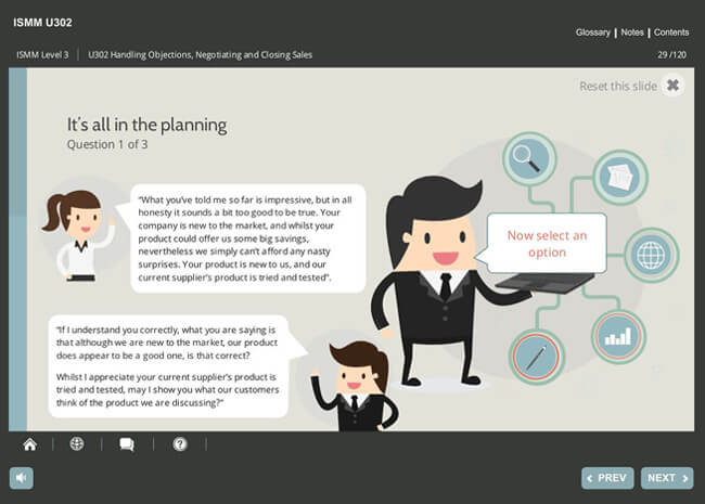 ISMM Level 3 U302 - Handling Objections, Negotiating & Closing Sales Screenshot 4