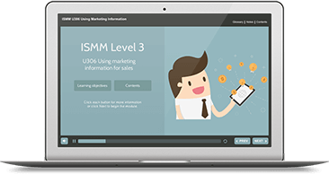 ISMM Level 3 U306 - Using Marketing Information for Sales eLearning