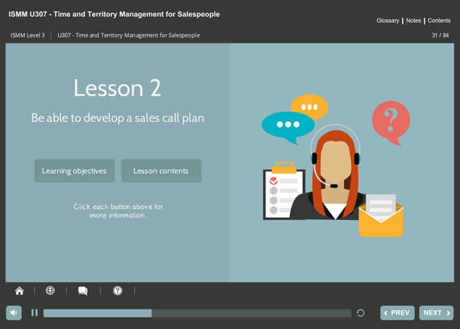 ISMM Level 3 U307 - Time & Territory Management Screenshot 3
