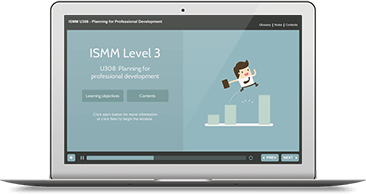 ISMM Level 3 U308 - Planning for Professional Development eLearning