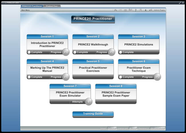 PRINCE2® Practitioner (level 2) 2009 Screenshot 1