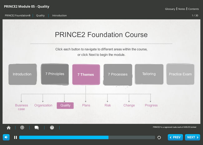 PRINCE2® Foundation (level 1) 2009 Screenshot 6