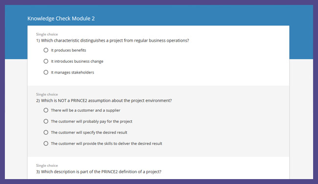PRINCE2® 2017 Foundation Screenshot 6