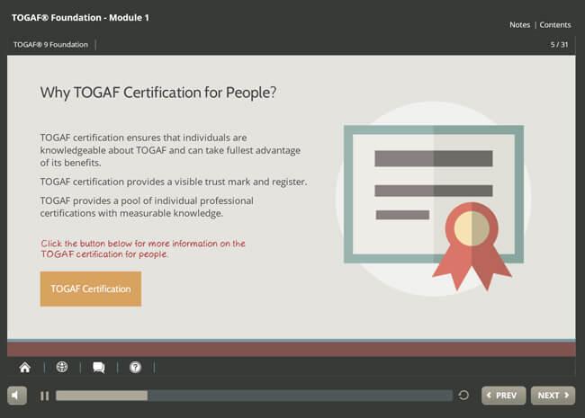 TOGAF® 9.2 Foundation Screenshot 3