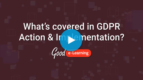 GDPR Action & Implementation Video